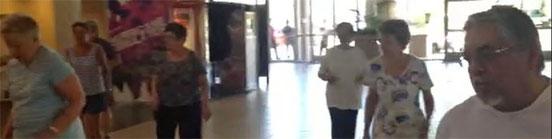 KT & Aerobic Dance Class at Mall