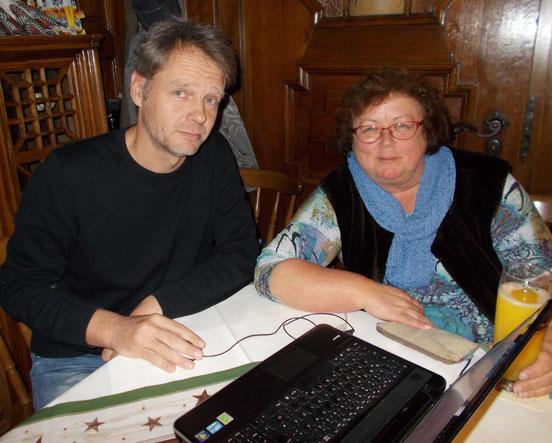 Sebastian Kleffner - kurz vorm Sabbatical;                                                 Margit Gramsall in den Startlöchern
