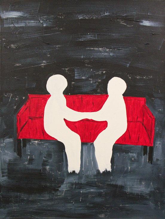 Verbundenheit, ,  Bild , Gemälde , Kunst , Acryl , Leinwand , arthaus kempen , Kunst , Künstler , Silvia Heimbucher