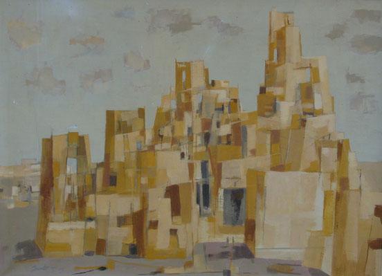 tableaux vaudois, huile sur toile, paysage vaudois, peintre vaudois, peintre, nu, lac Léman, barque, Jean-Jacques Gut, tour de Babel