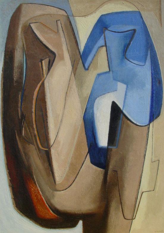 tableaux vaudois, huile sur toile, paysage vaudois, peintre vaudois, peintre, nu, lac Léman, barque, Georges Aubert, symboliste, composition