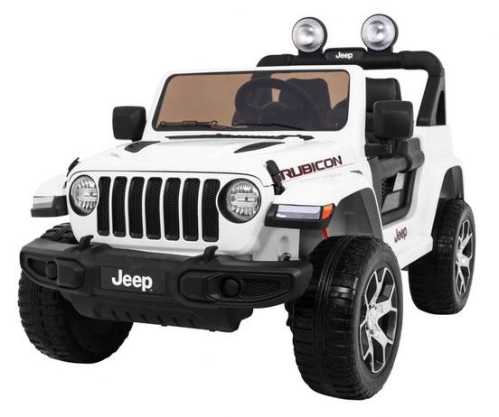 Jeep Wrangler Rubicon/Allrad/Kinderauto/ Kinder Elektroauto/lizensiert/2 Sitzer/weiß lackiert/