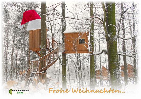 Baumhaus Freiraum, Weihnachten, Bild: Baumhaushotel Solling.