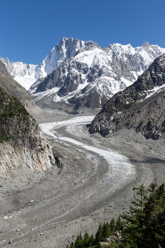 Mer-de-Glace glacier in Chamonix