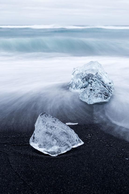 Ice crystal at Diamond Beach