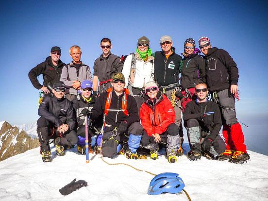 Gipfelfoto mit meiner tollen Gruppe
