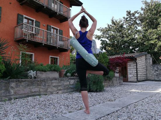 Sogar Yoga konnte man hier machen. Entweder draußen oder im Yogaraum.