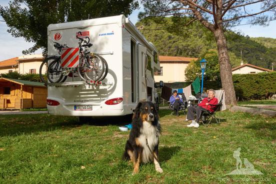 Campingplatz im Valle de Peillon: Ruheoase nahe dem turbulenten Nizza.