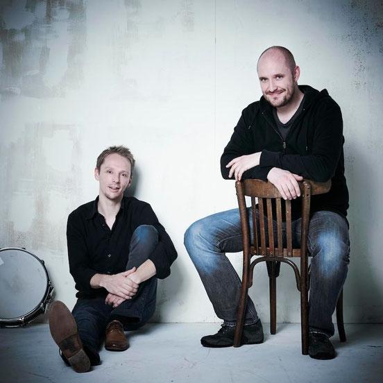 Andreas Pfeifer und Max Gebhardt sind die Initiatoren und Betreiber des Trommelwerks