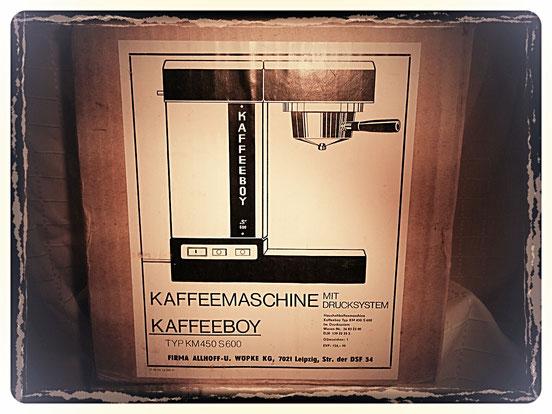 KAFFEEBOY TYP KM S 600-1980