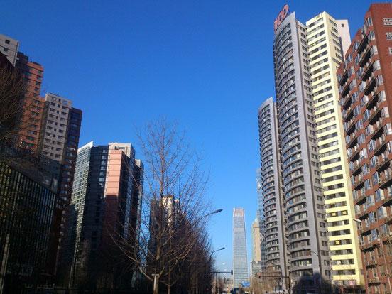 こんなに爽やかな朝もあるんですよ、北京にも。