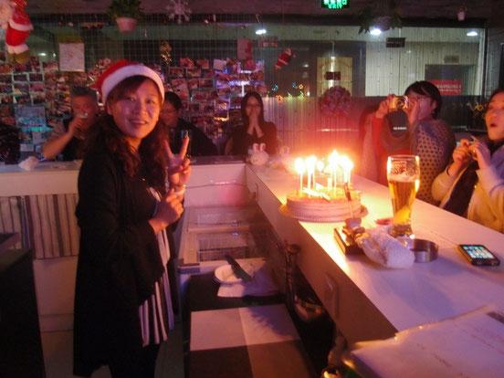 実はこの日は愛ちゃんの誕生日でもあり皆さんにお祝いしていただきました~!