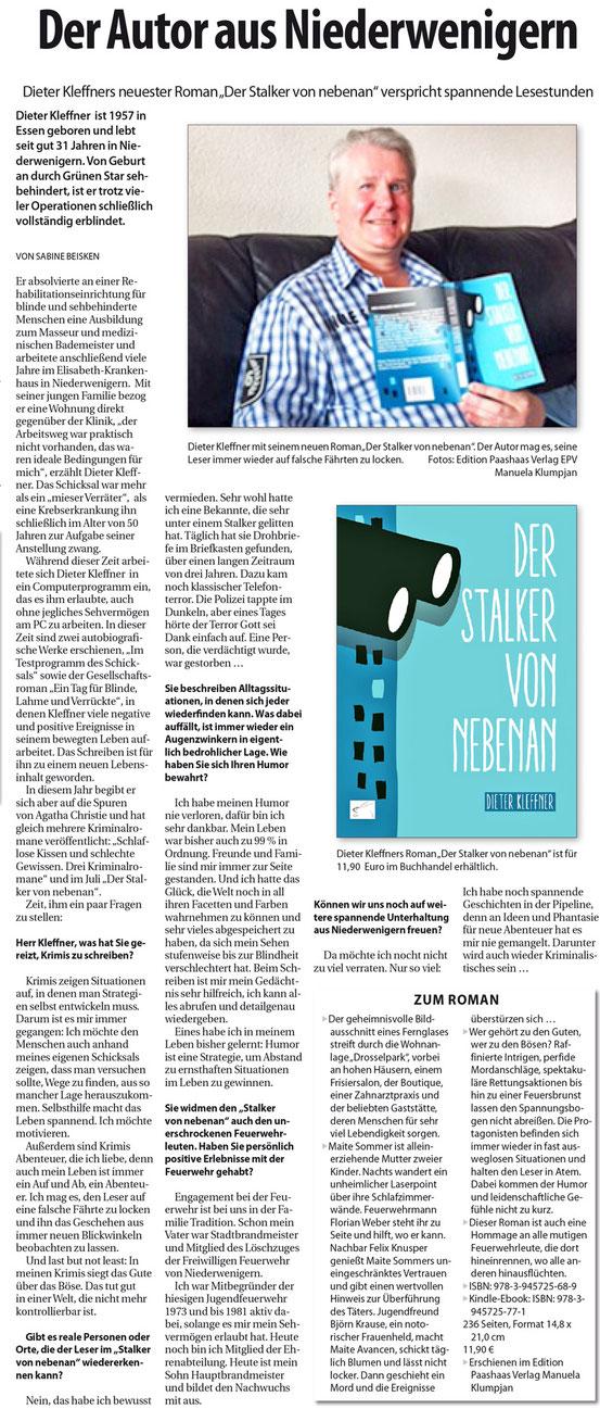 Bild Seitungsseite im Ruhrkurier vom 06.10.2016 – PDFs (für Screenreader geeignet) des Artikels findet Ihr unterhalb dieser Abbildung.