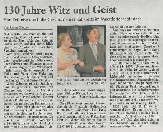 Braunschweiger Zeitung, 30.05.2009