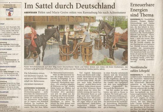 von Werner Fademrecht, erschienen in der NWZ am 19.09.2012