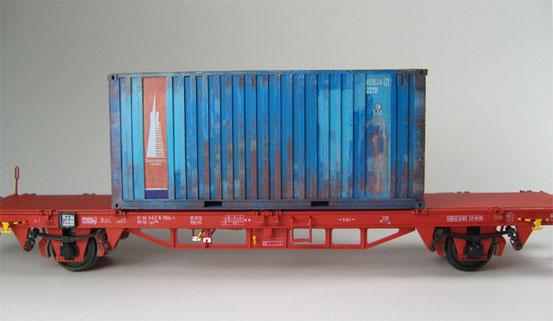 Containerwagen von Prado