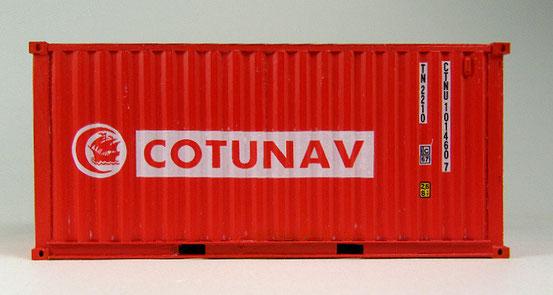 Exoten mag ich besonders gerne. Hier ein 20' Dry Container  der tunesischen Reederei Cotunav.