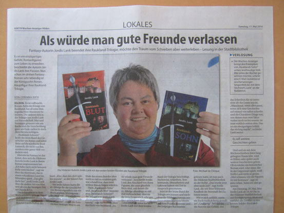 Wochenanzeiger Hilden, 17.05.2014 - Herzlichen Dank für die Genehmigung zur Verwendung!