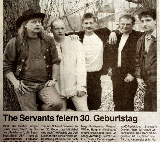 30 Jahre THE SERVANTS, Jubiläumskonzert 1996