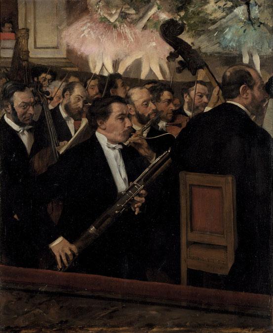 《オペラ座のオーケストラ》1870年