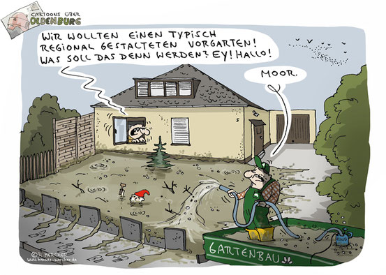 Oldenburg Cartoon 16: Der Vorgarten