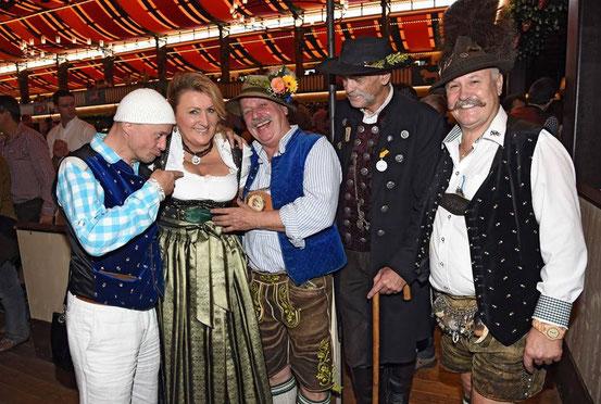 v.L. Jens Krumpholz, Karin Engelhardt, Wolfgang M. Prinz , Peter Böhme & Edi Pischler