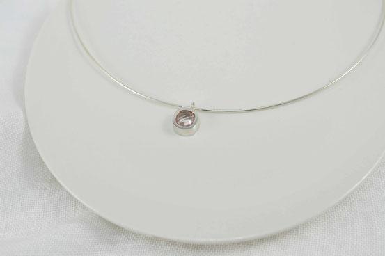 pendentif en argent et pierre fine / hanger in sterling silver and gemstone