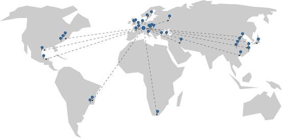 Kuhn-Einstelllehren werden weltweit eingesetzt