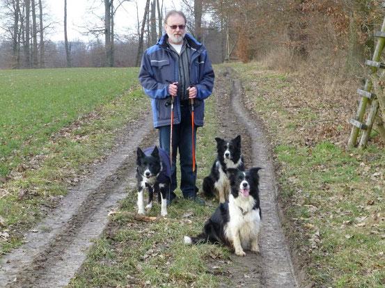 Januar 2015 - Bernd mit den Hunden