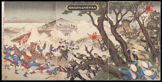 S033The japanese second army won very much in the Battle of Jinzhou and the Battle of Lushunkou