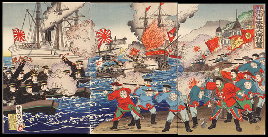 S024 Japan won very much in the Battle of  Lushunkou in the first Sino-Japanese war
