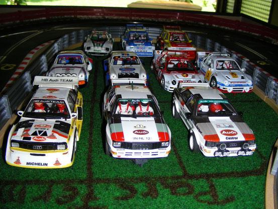 Classic Rally-Cars im Parc Fermé