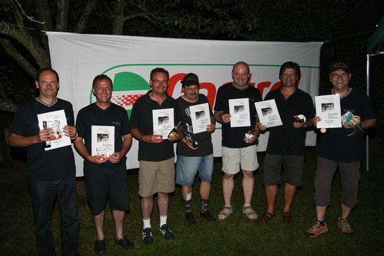 """Zweiter Platz beim 6.Std.Rennen 2012 """"Team Blau""""."""