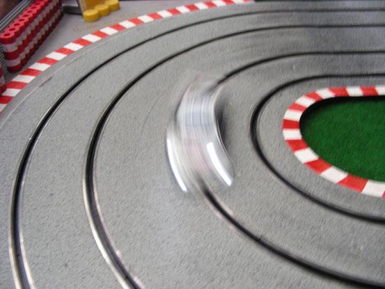 ...am Sandbergring wurden sehr hohe Geschwindigkeiten gefahren.