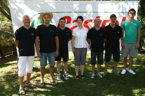 Team Rot:Rainer Destruelle,Thorsten Rech,Udo Mohr,Monika Ney,Berti Weber,Harald Darimont,Alexander Schütz