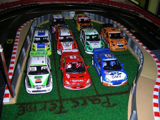 WRC im Parc Fermé