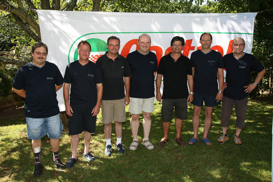 Team Blau:Stefan Cavelius,Robby Fontaine,Wolfgang Neumann,Peter Conrad,Martin Trennheuser,Joachim Schütz,Eugen Woll