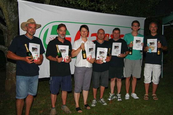 """Erster Platz und damit Sieger beim 6.Std. Rennen 2012 """"Team Rot""""."""