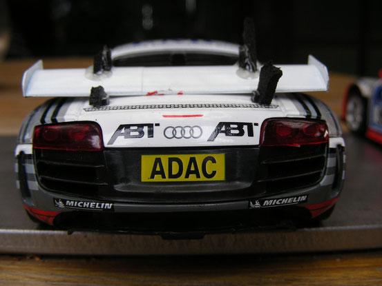 """...der Audi R8 von """"Team Blau""""..."""