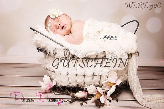Gutschein/Rabatt für Neugeborenenfotografie, Haarband Taufe, Babyfotografie Taufband Haarkrannz Geschenk zur Geburt perft für die Windeltorte