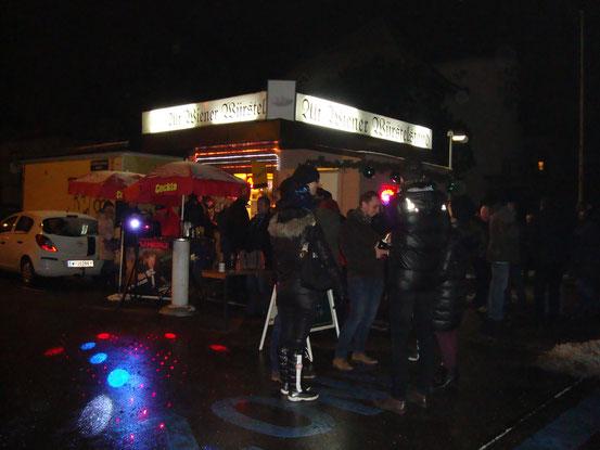 Der 'Altwiener Würstelstand' zu Silvester 2014