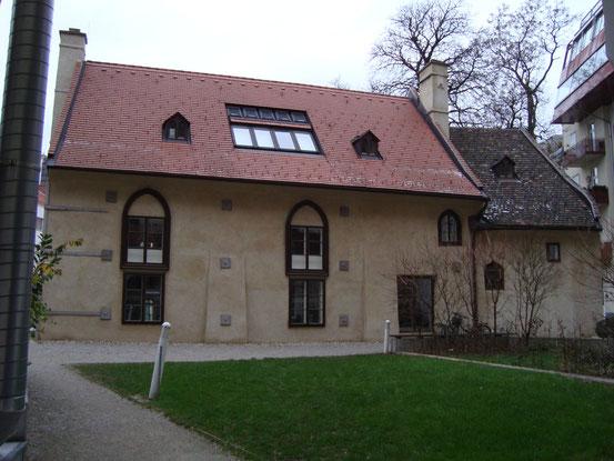 Die Heumühle (Gesamtansicht von Süden), Zugang von der Schönbrunner Strasse, 1040 Wien