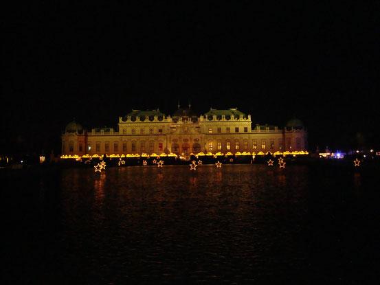 Entzückend die Sterne im Bassin vor dem Schloss Belvedere