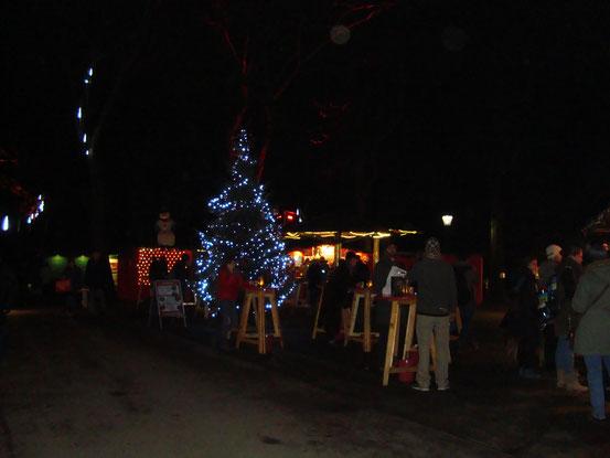 Der Hauptplatz des Weihnachtsmarktes im Türkenschanzpark