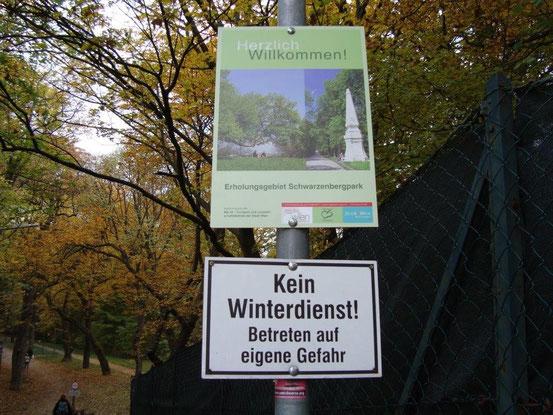Zugang zum Erholungsgebiet Schwarzenbergpark bei der Waldegghofgasse, 1170 Wien