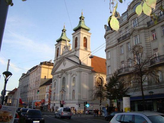 Die Rochuskirche, 1030 Wien, Landstrasser Hauptstrasse 56, gegenüber vom Rochusmarkt