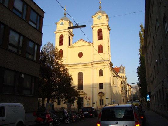 Schubertkirche. Pfarrkirche Lichtental. 1090 Wien, Marktgasse 40