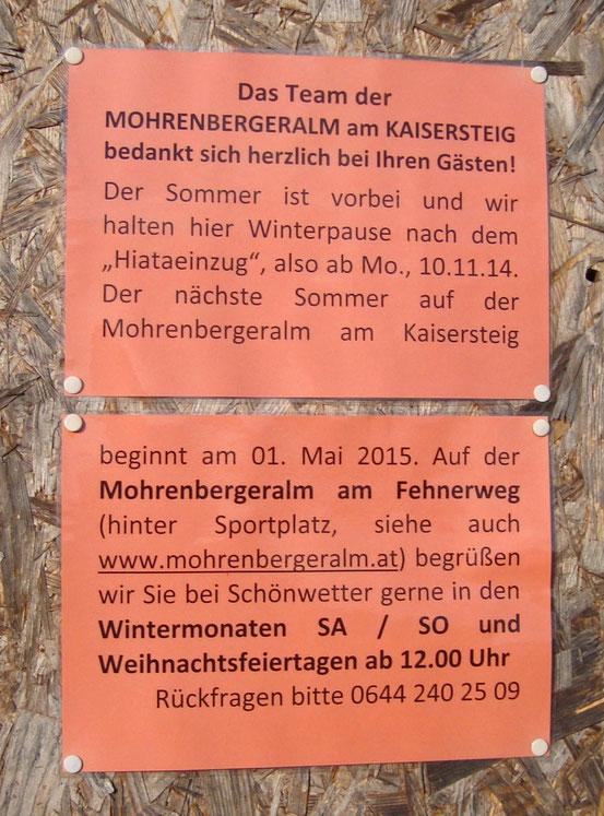 Mohrenberger Alm II (Website: Klick aufs Bild)