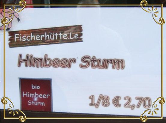 Bio-Himbeer-Sturm aus dem Biobeerengarten Hummel in Loosdorf, Niederösterreich. Schmeckt super. (Bildklick)