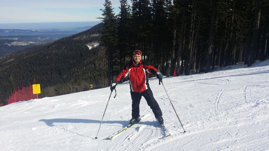 Franzi am Skihang
